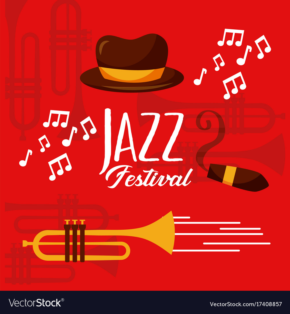 Jazz festival poster music event invitation vector image stopboris Image collections