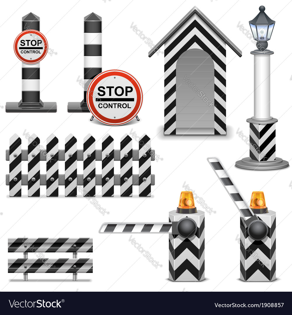 Police Barrier Icons