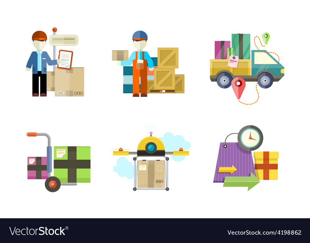 Concept of services in delivery goods vector image