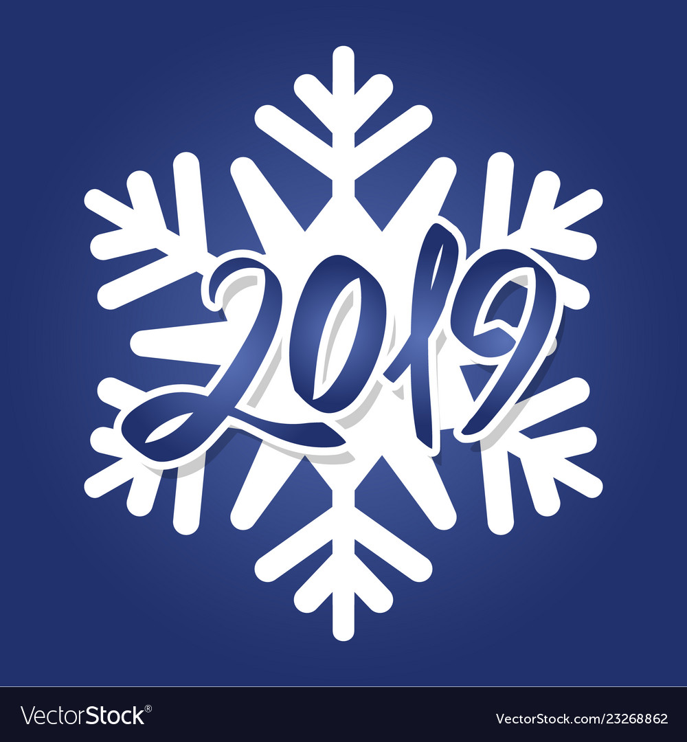 Cool white snowflake with handwritten inscription