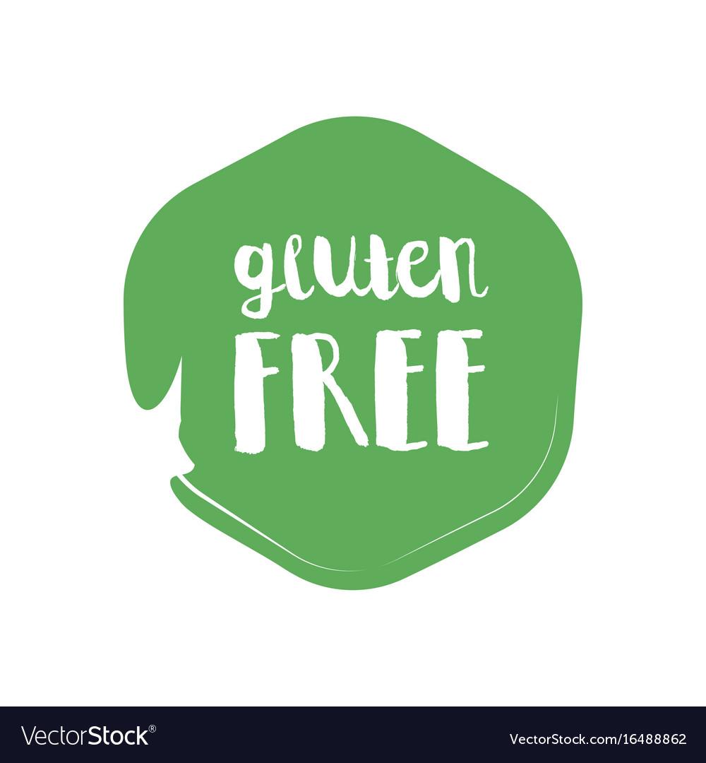 Gluten free circle letters in grunge round