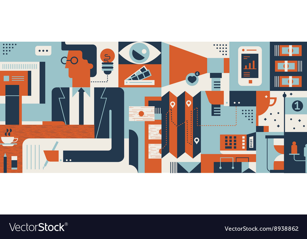Marketing abstract background vector image