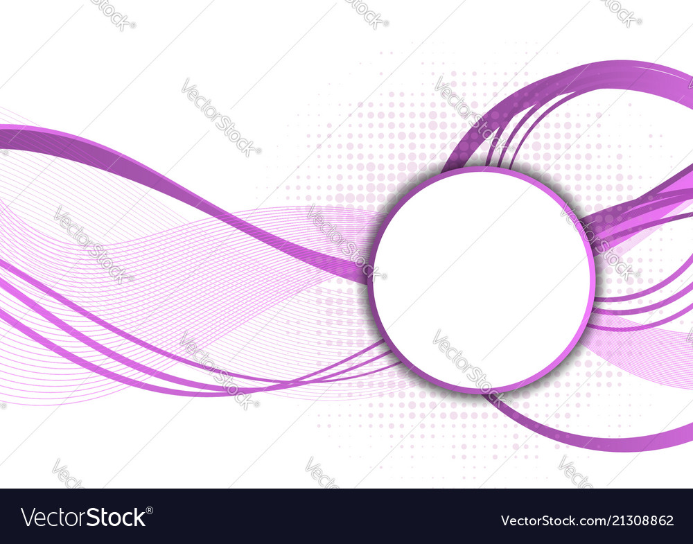 Purple Abstract Wave Wallpaper Modern Design With