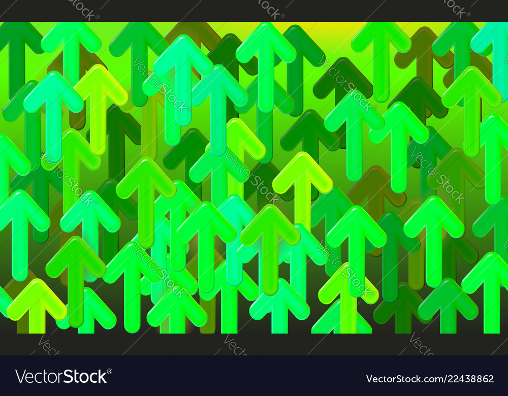 Start-up design arrow background green arrows