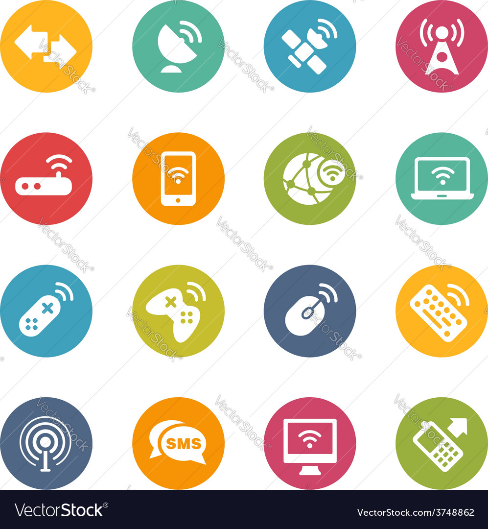 Wireless communications vector image