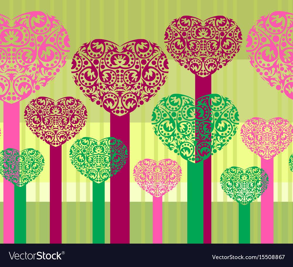 Abstract heart trees