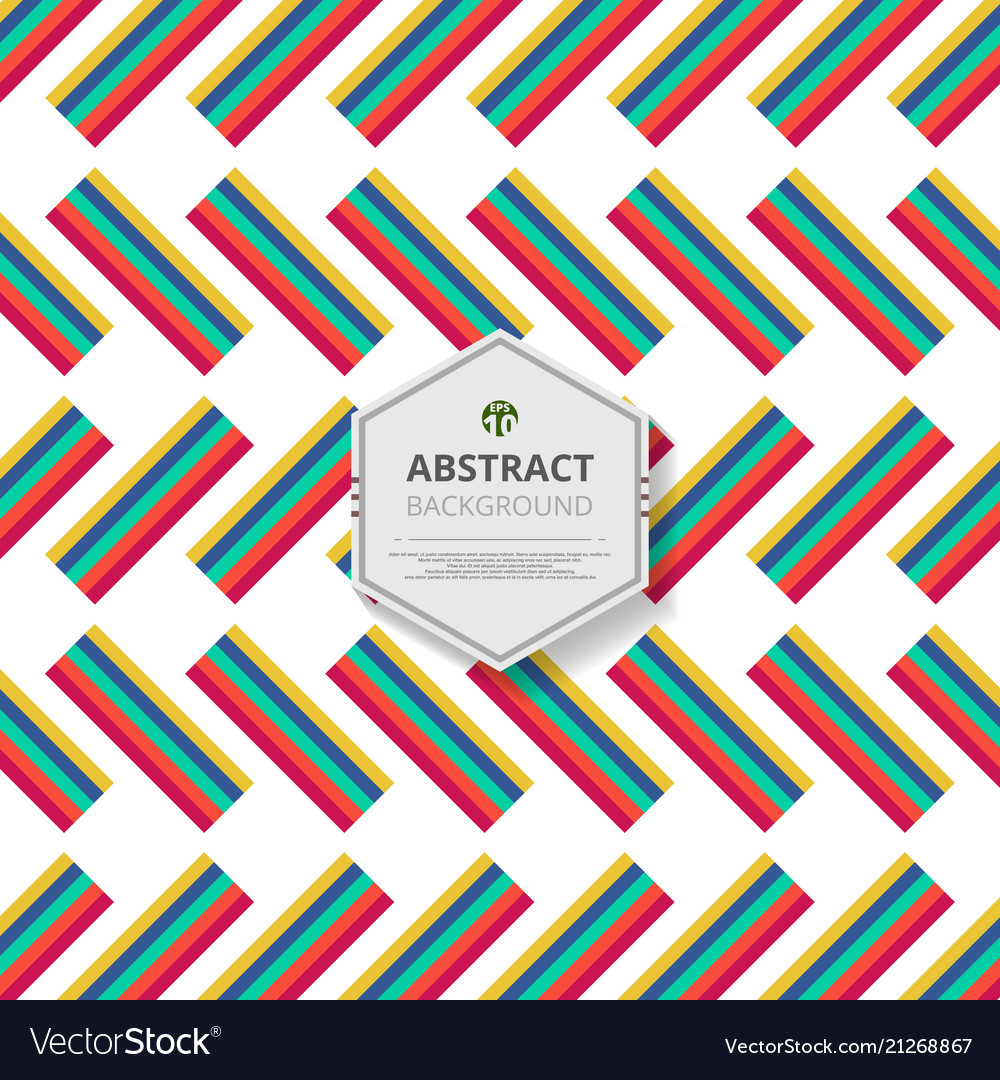 Abstract of group colorful stripe lines pattern vector image