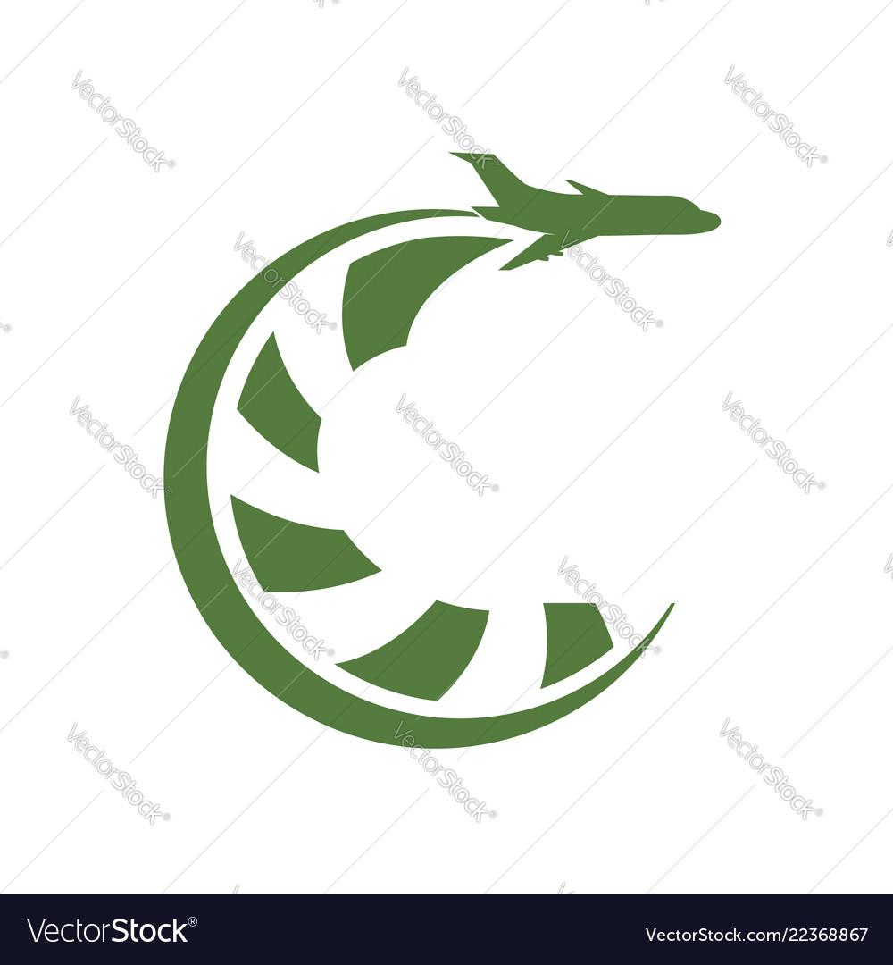 Airplane travel logo travel agency adventure