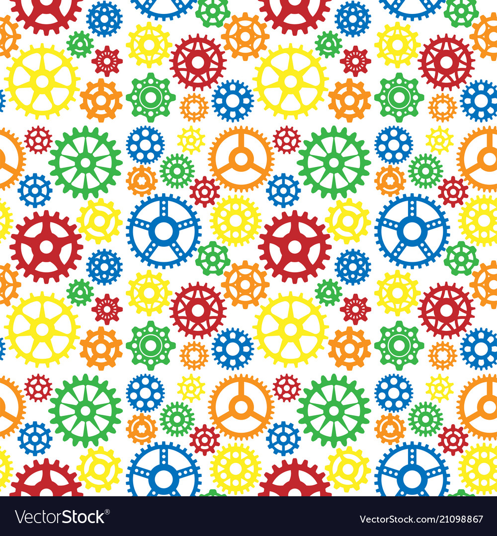 Gears icons seamless pattern background