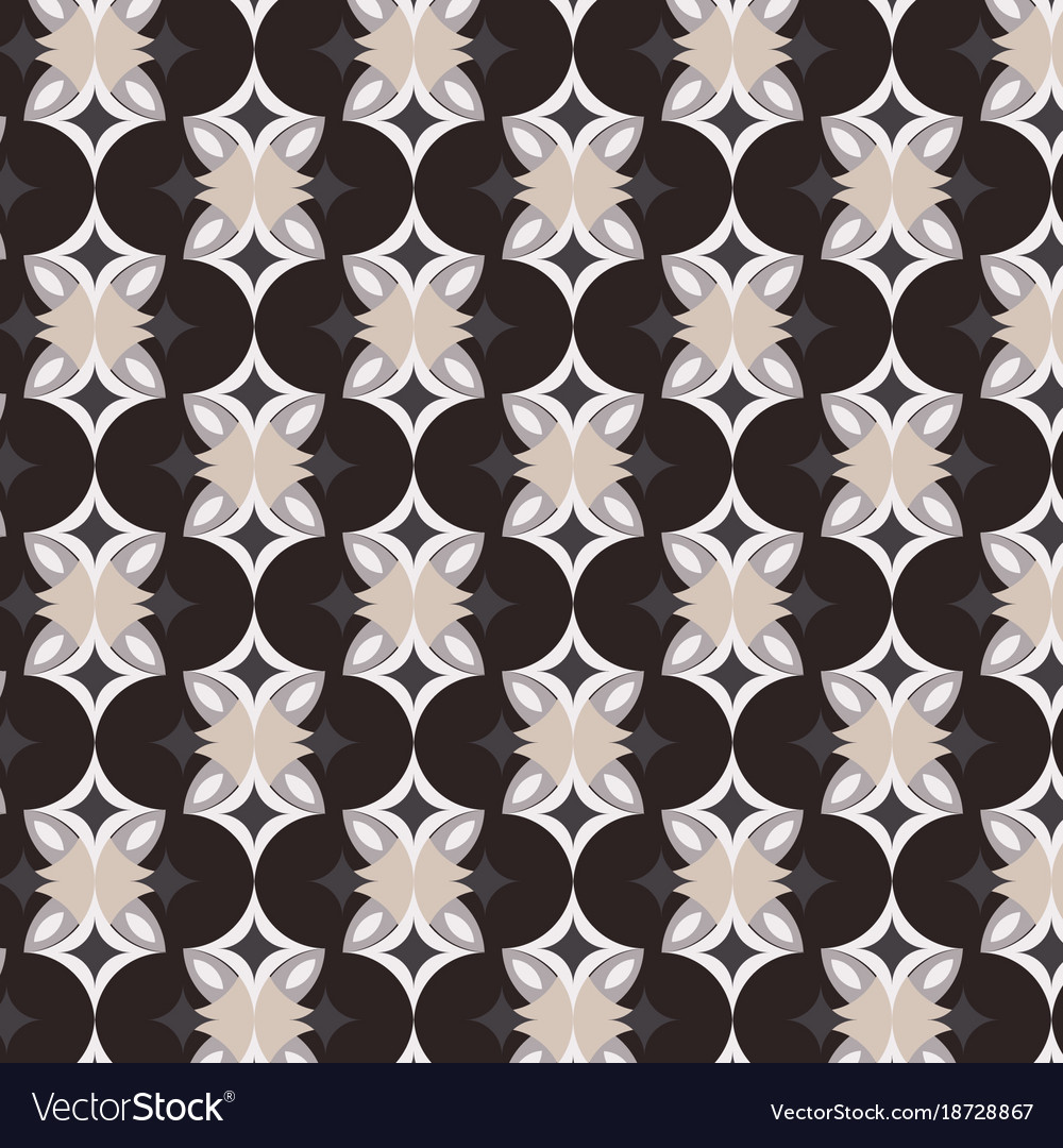 Geometric pattern on brown background vector image