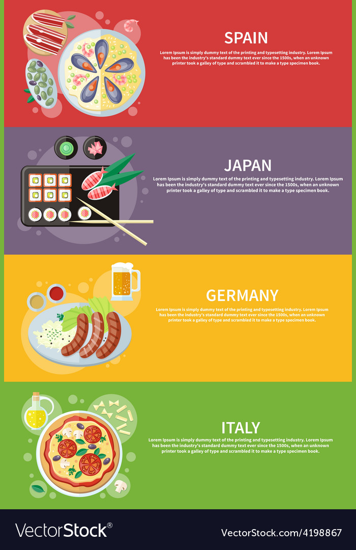 Italy Japan Spain and Germany food