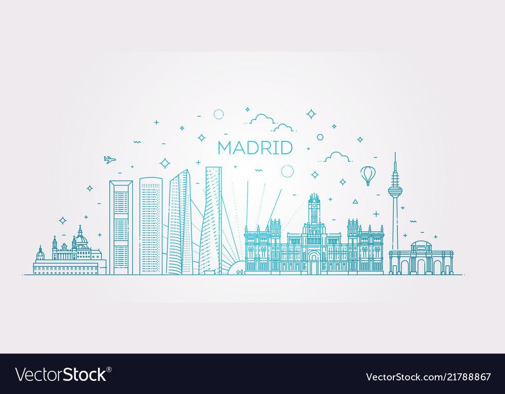 Madrid skyline spain line