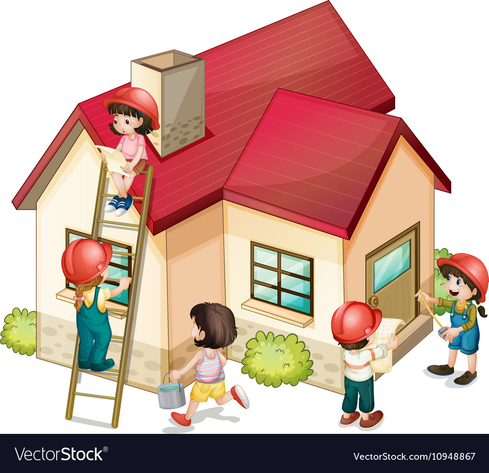 Построить дом картинка детская