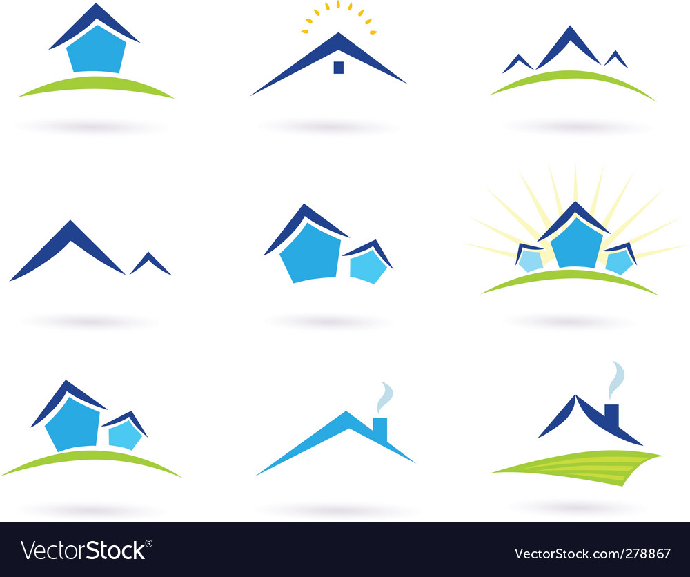 Real estate logo and icons