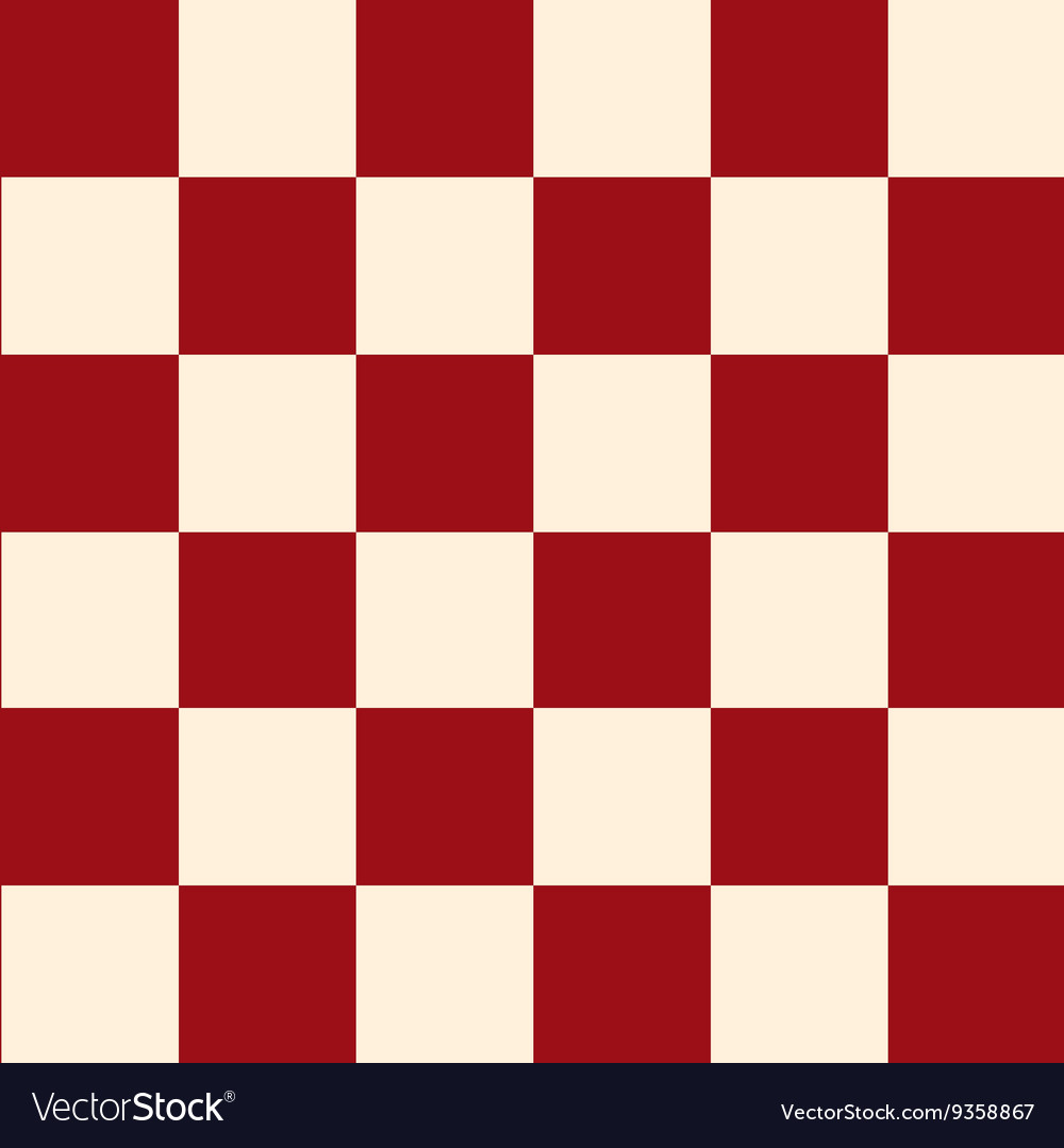 Red Cream Chess Board Background Vector Image