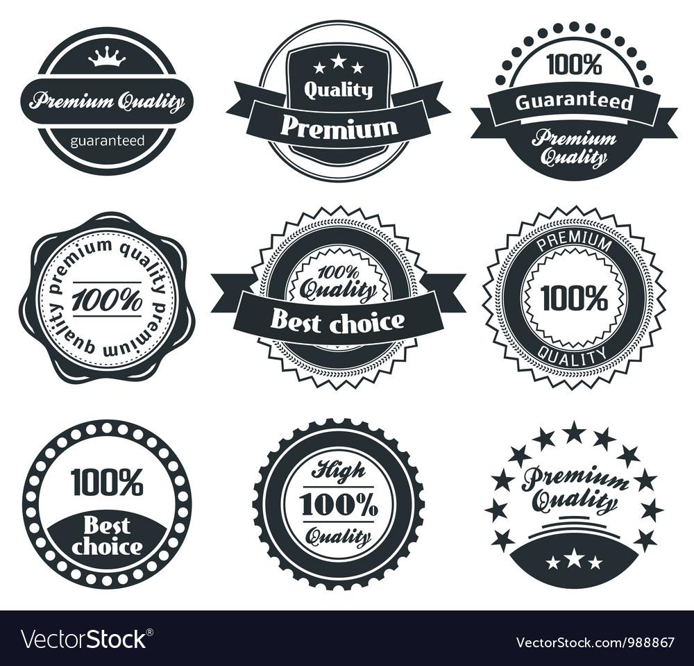 Retro Vintage Label collection vector image