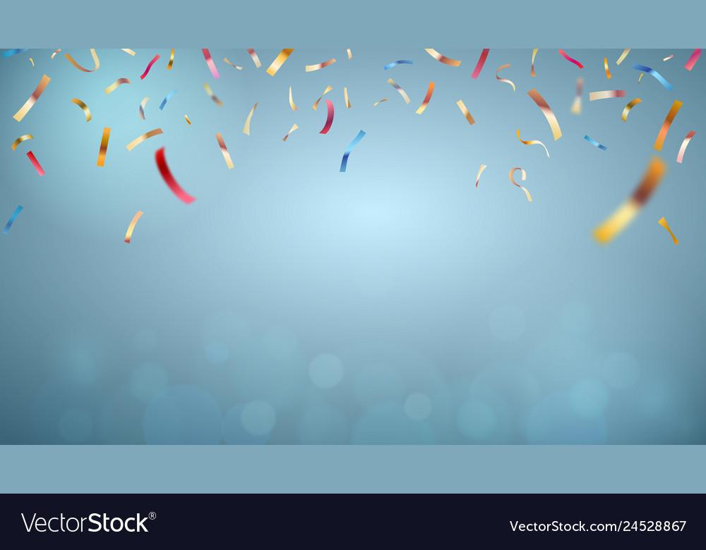 Studio backdrop with colored confetti stage magic