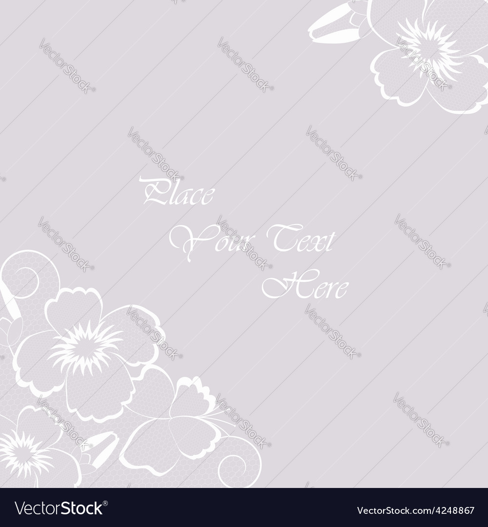 Vintage abstract background with white lace