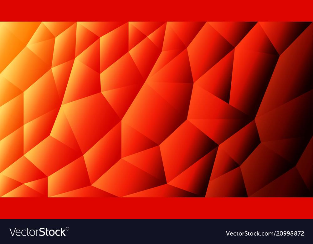 Abstract triangulated background orange