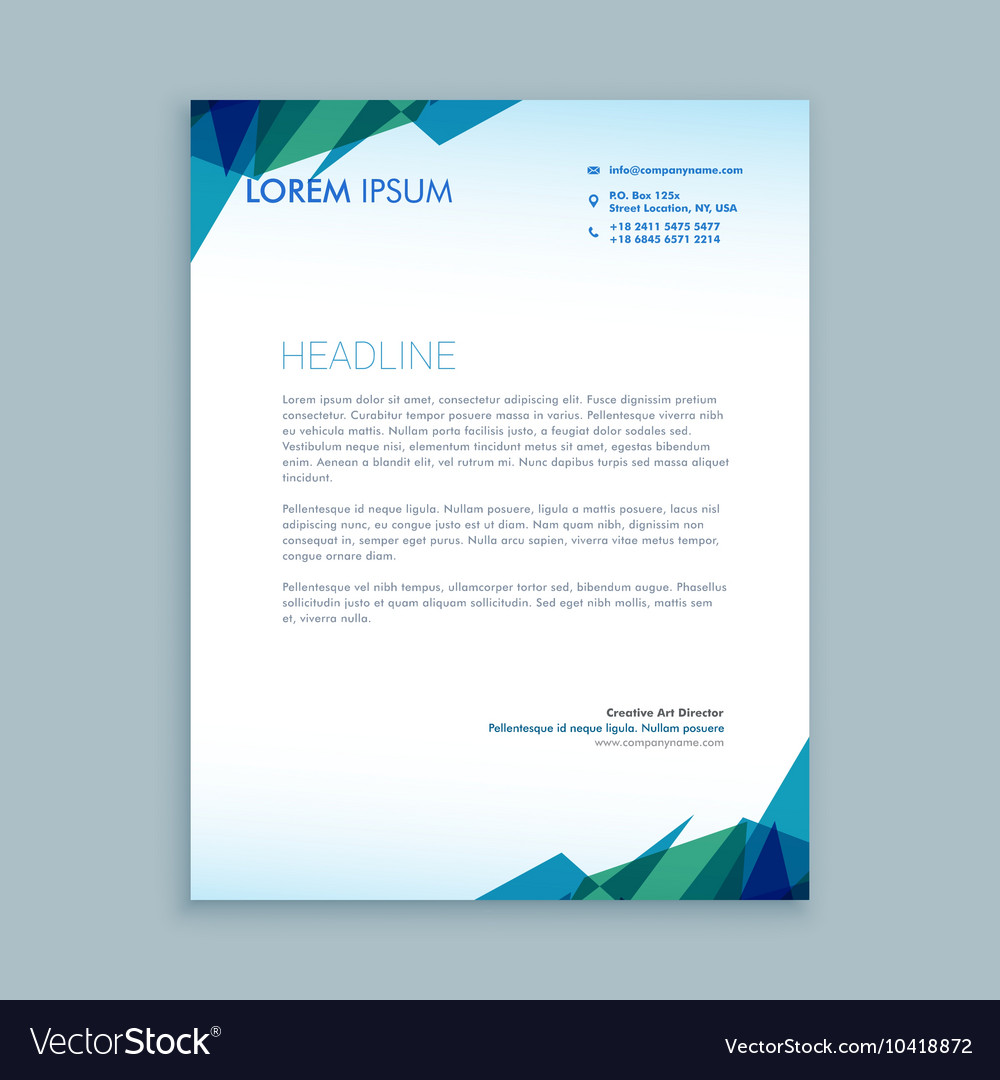 Creative abstract letterhead design