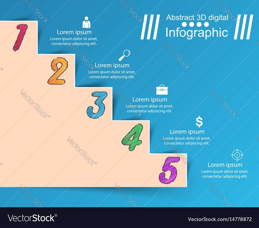 Infographics up the ladder to success business