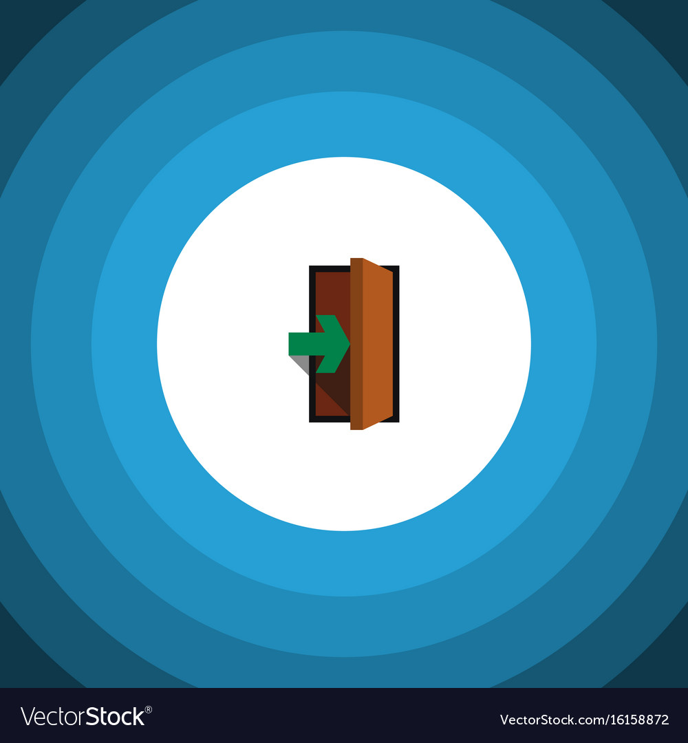 Isolated entry flat icon entrance element