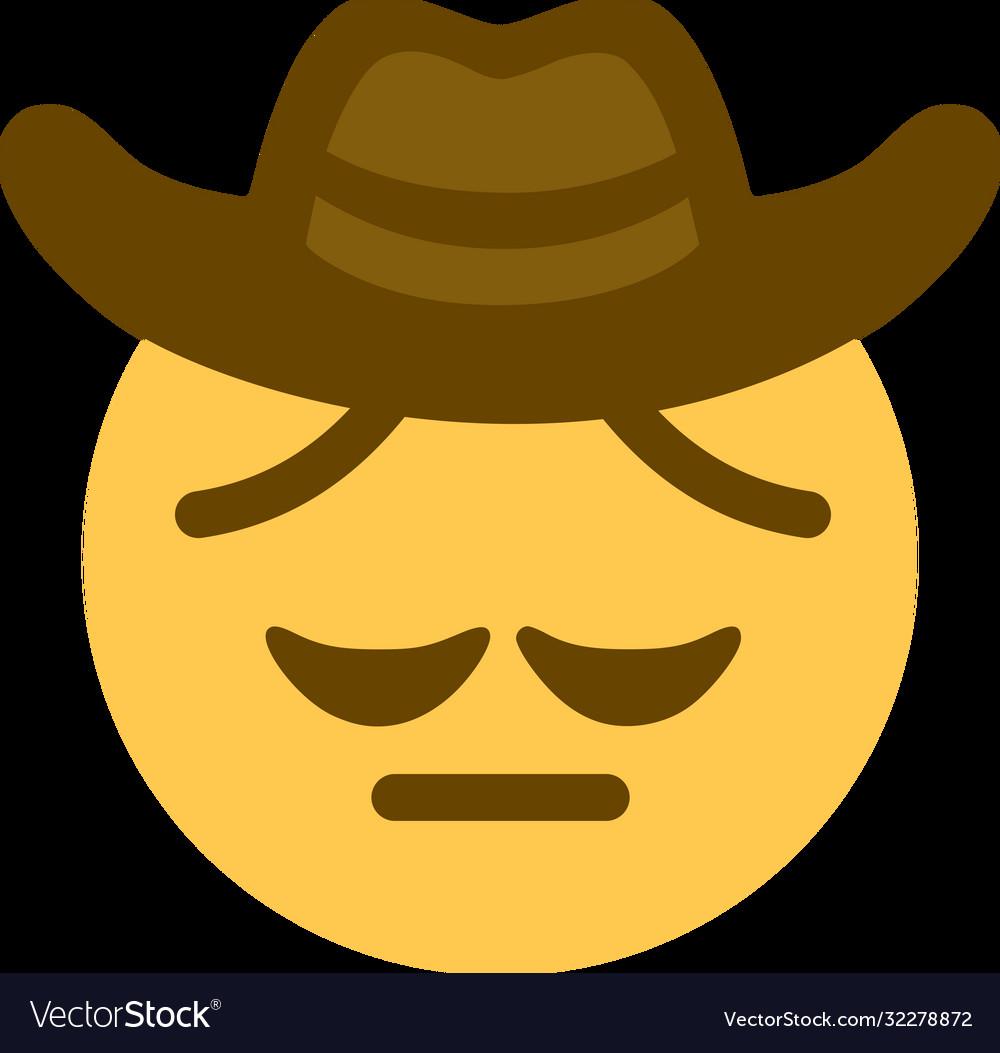 Sad Cowboy Emoji Text