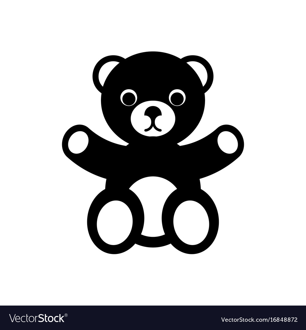 teddy bear icon royalty free vector image vectorstock vectorstock