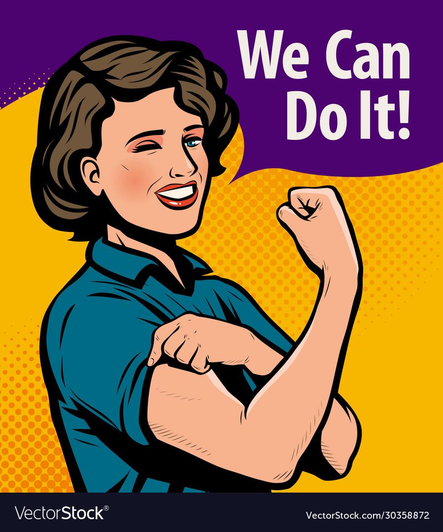 We can do it retro poster retro comic pop art