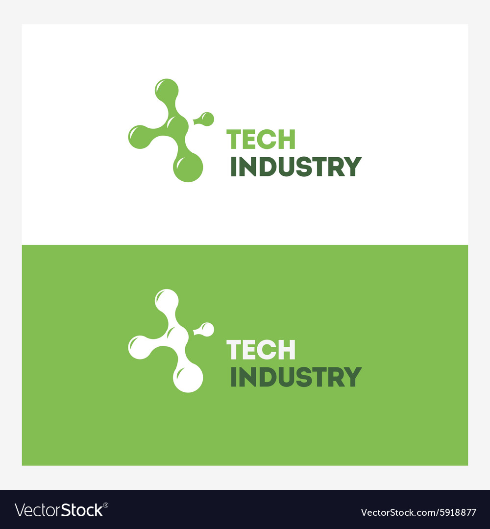 Abstract Technology logo design template