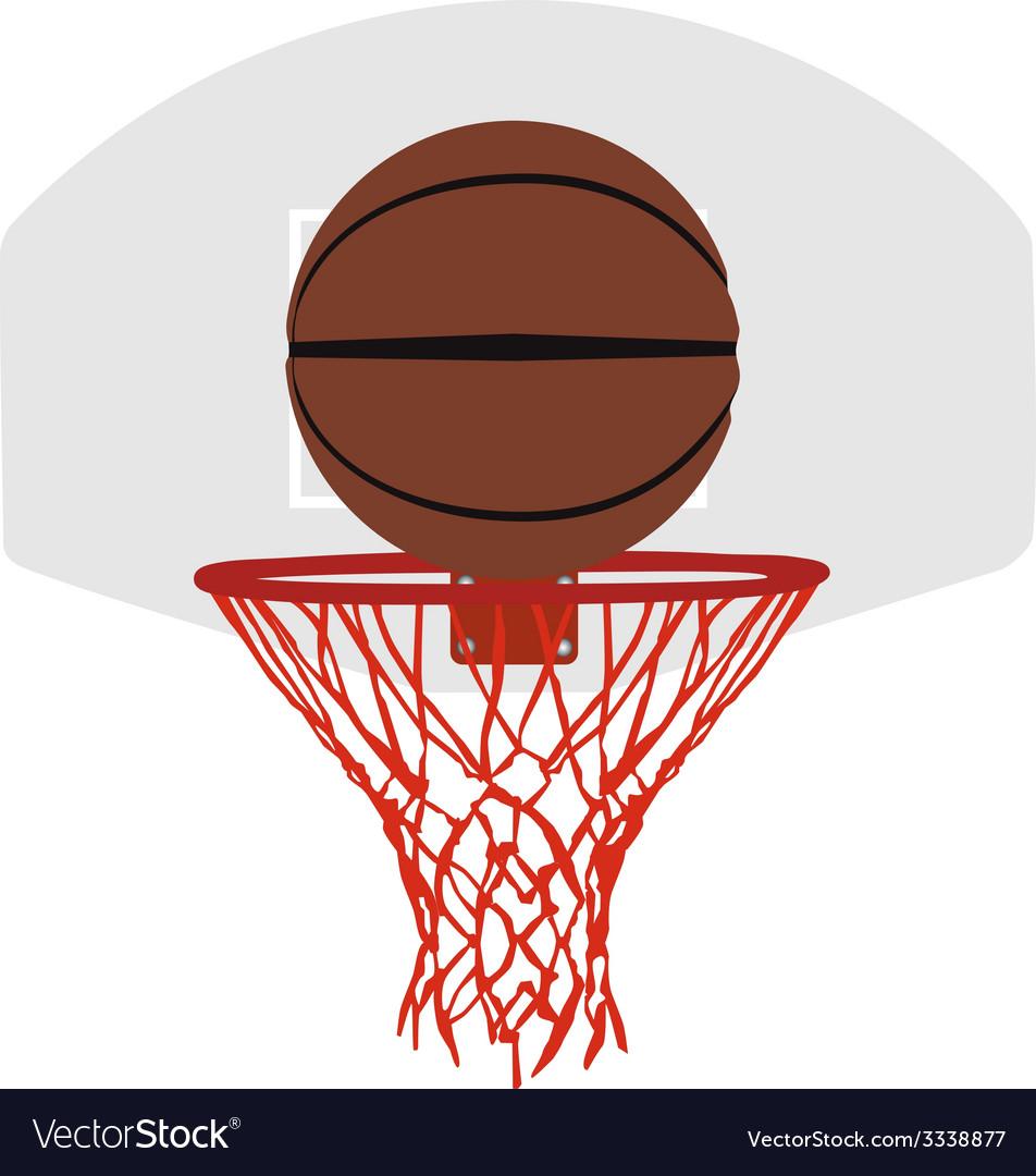 Grey basketball basket and hoop