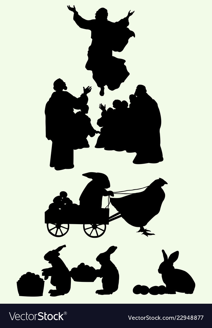 Happy easter silhouette