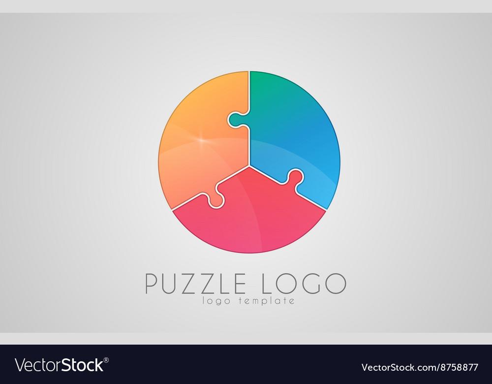 Puzzle circle logo puzzle logo Creative logo