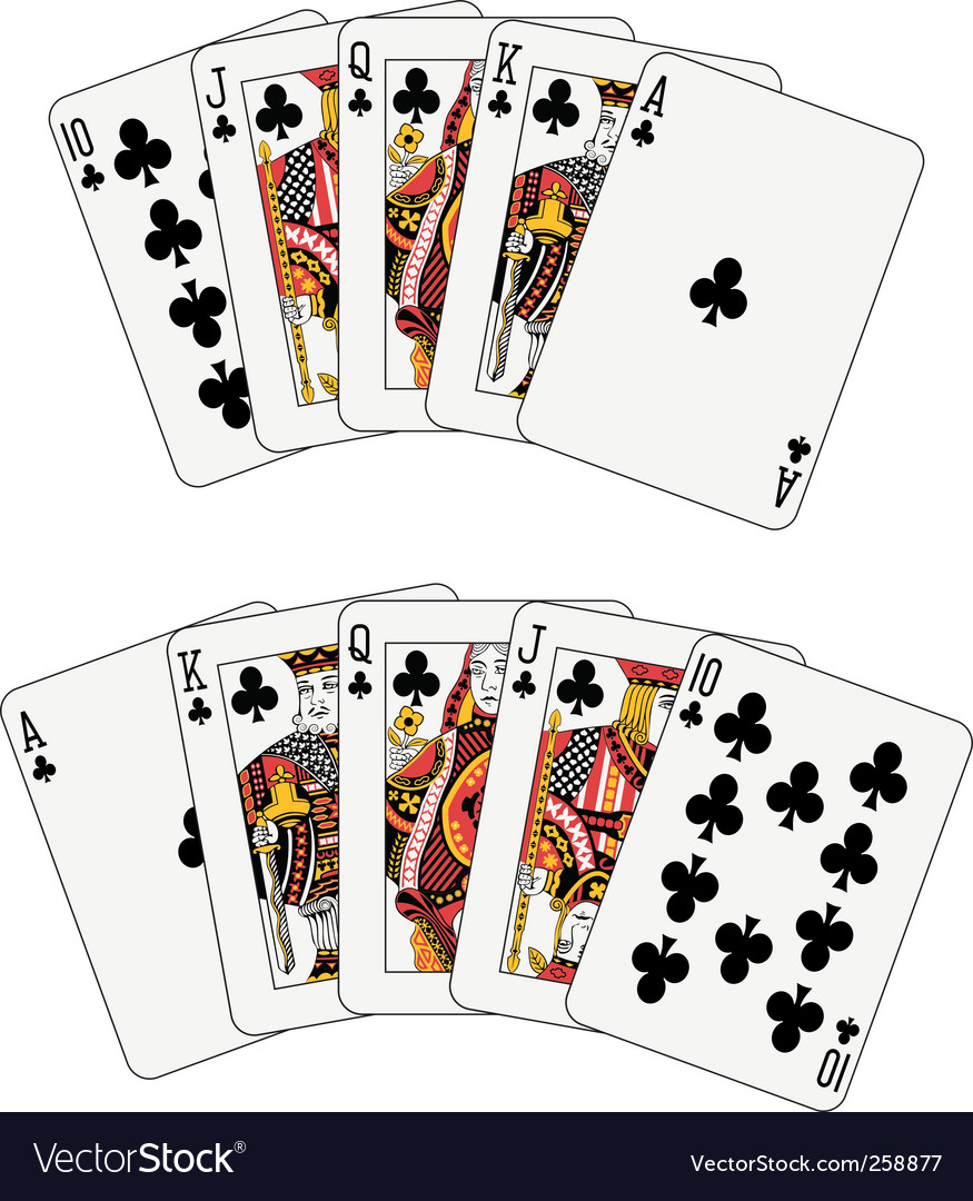 Royal flush club vector image