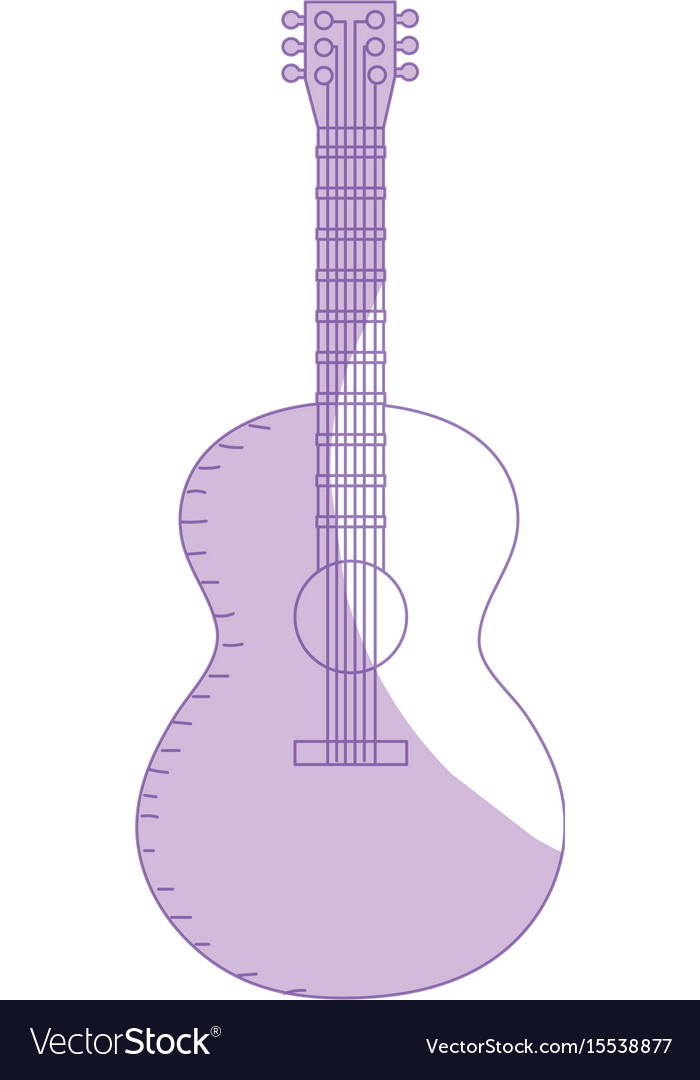 Silhouette acoustic guitar play music instrument
