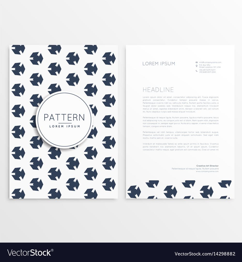Clean minimal letterhead template design