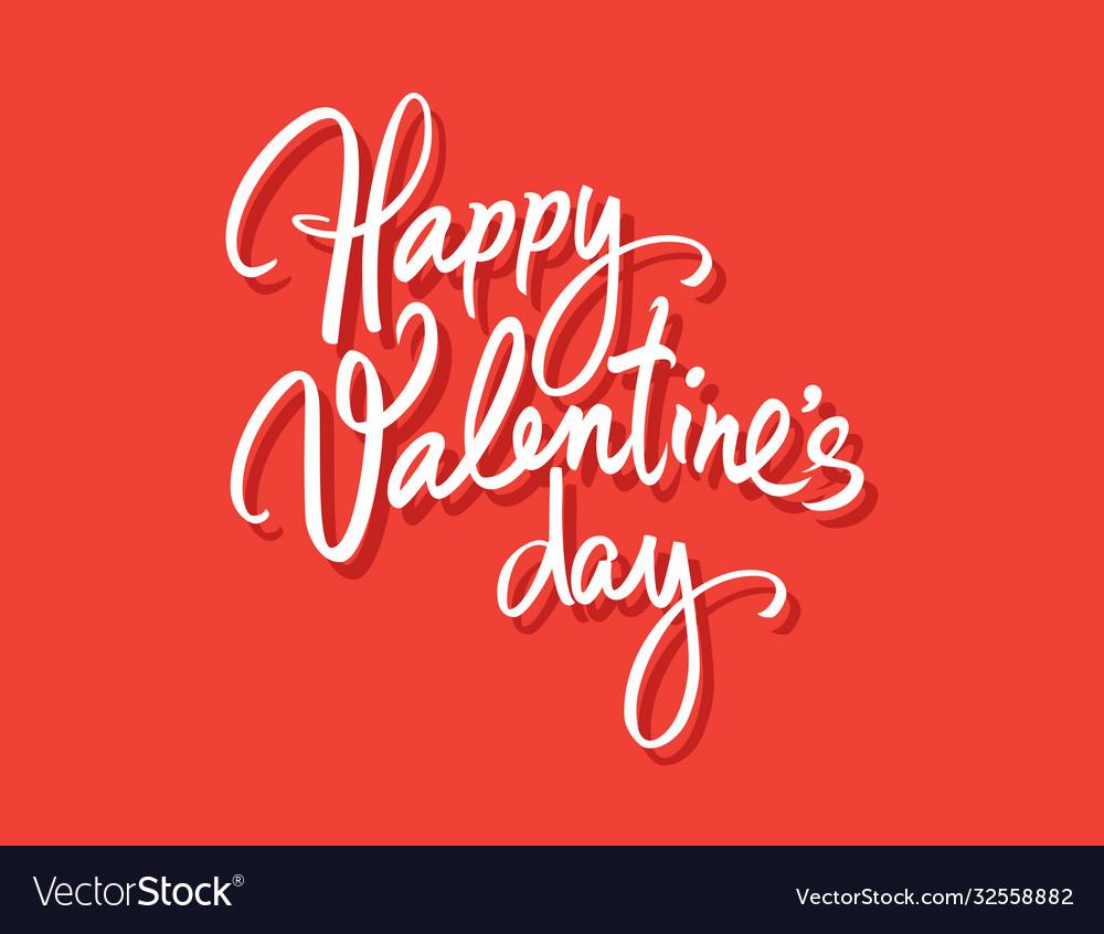Happy valentines day vintage greeting card