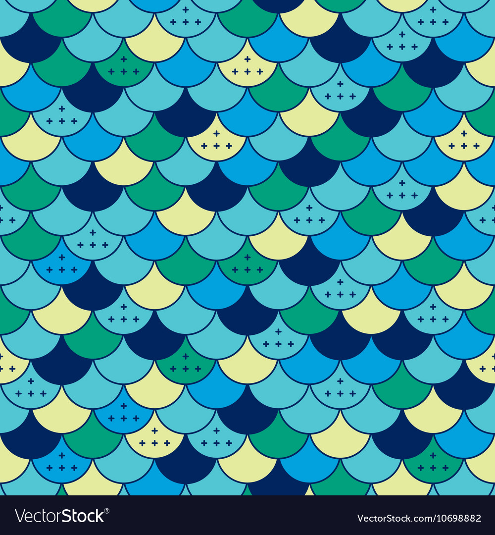Semicircles seamless pattern Tile or fish scale
