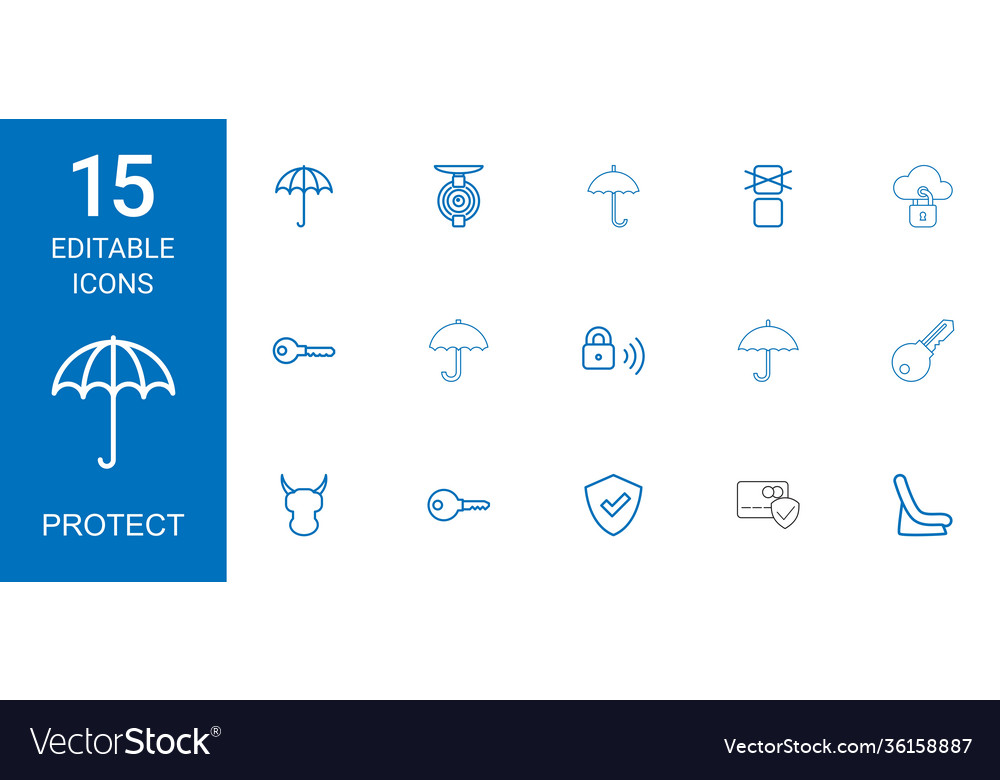 15 protect icons