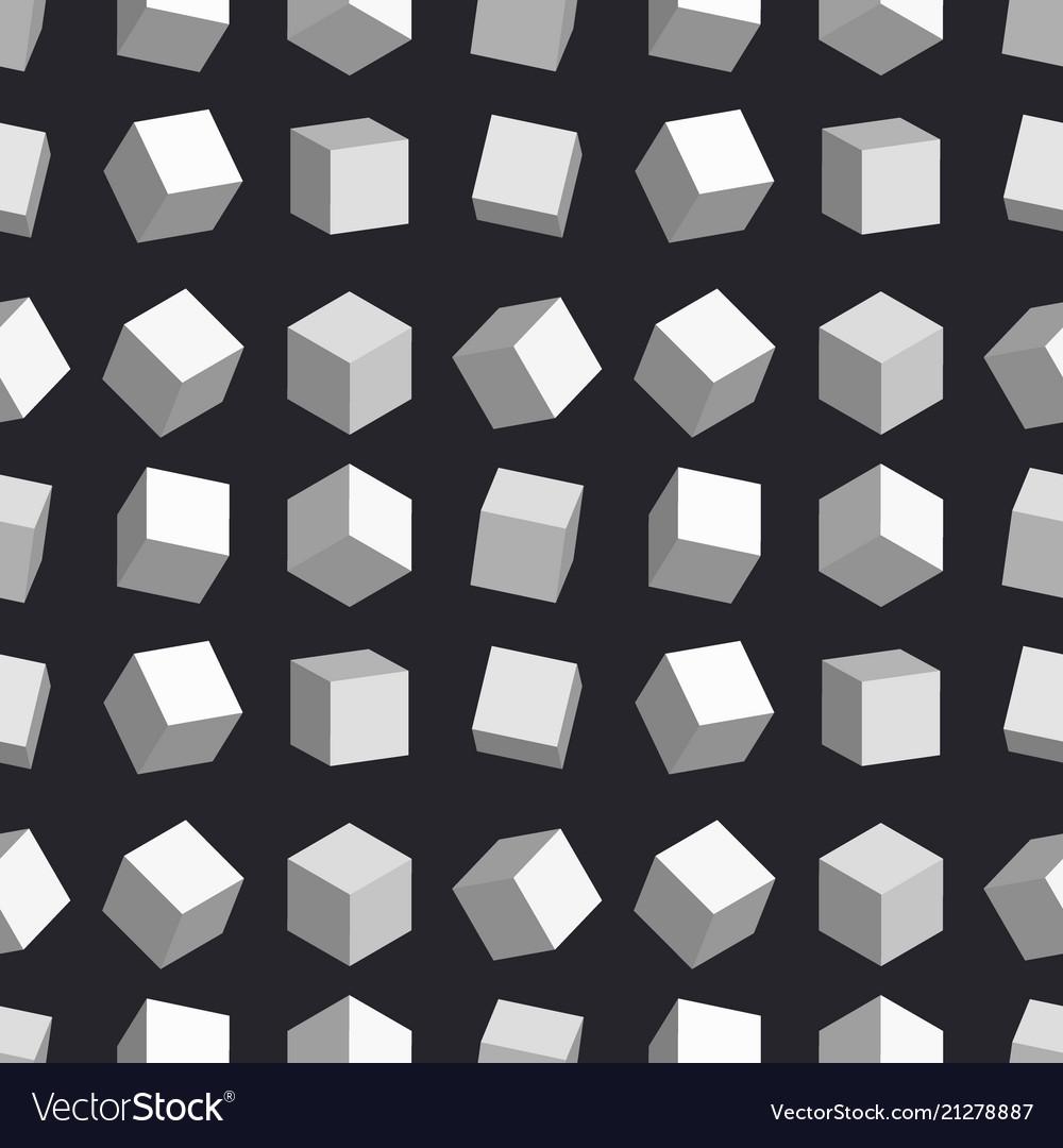 3d cubes seamless pattern box square