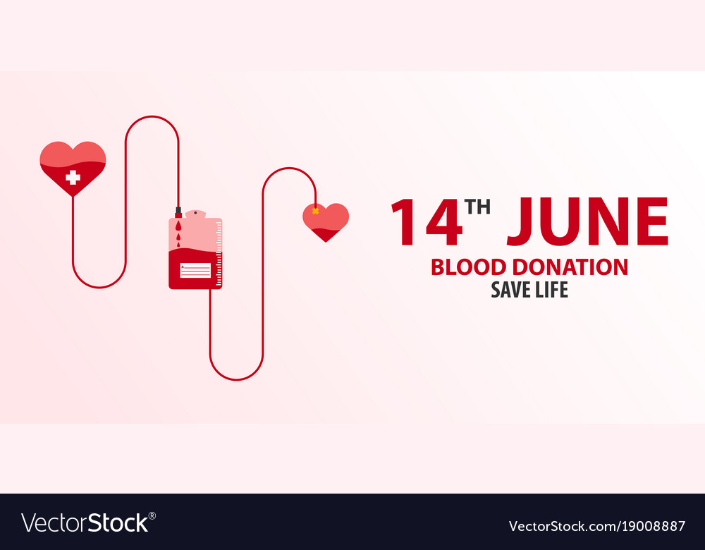 Blood donation banner medical