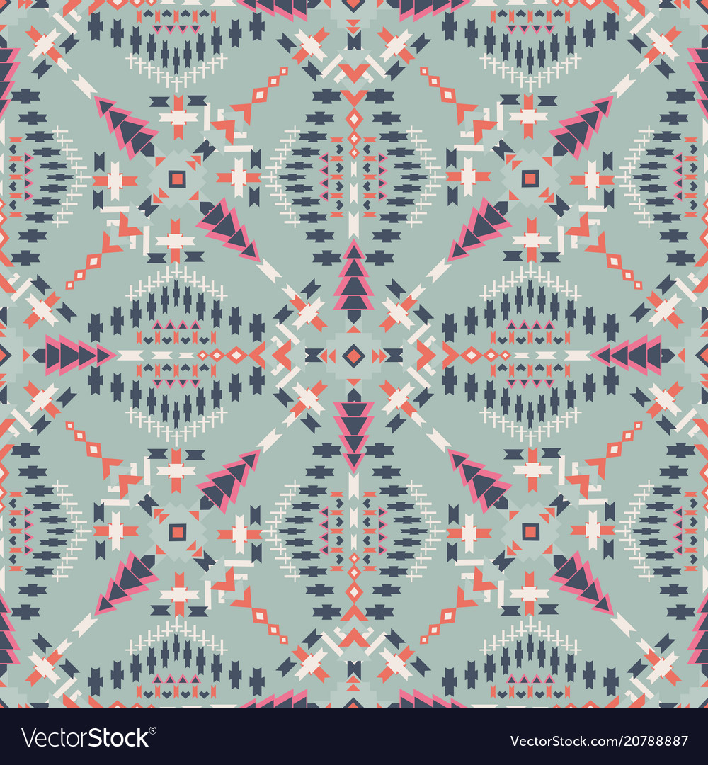 Ethnic seamless pattern aztec geometric