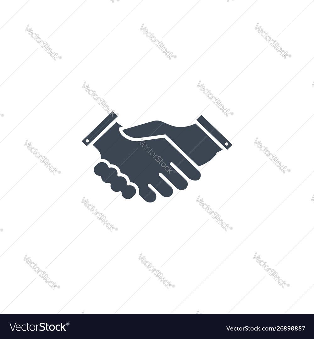 Handshake related glyph icon