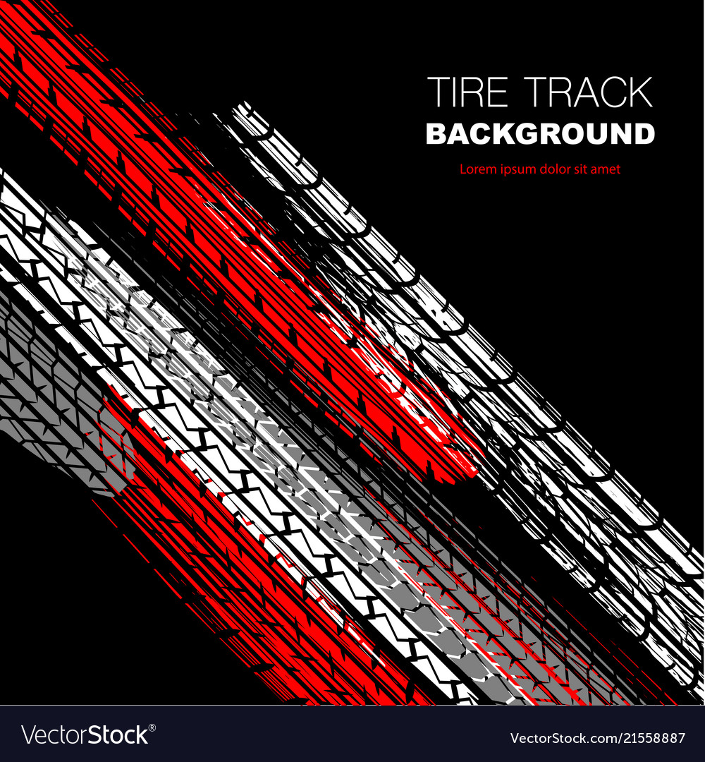 Red And Black Tire Track Wallpaper Royalty Free Vector Image