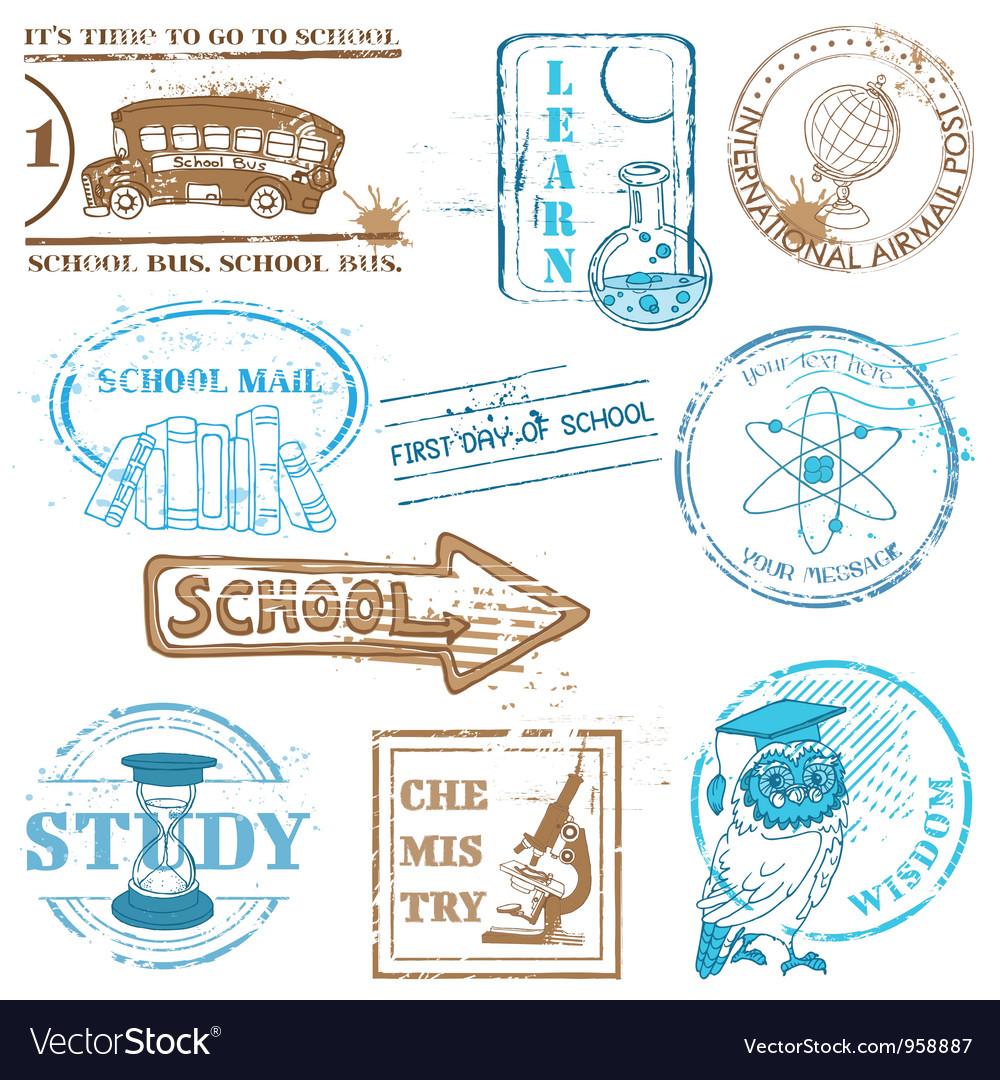 Set of SCHOOL stamps