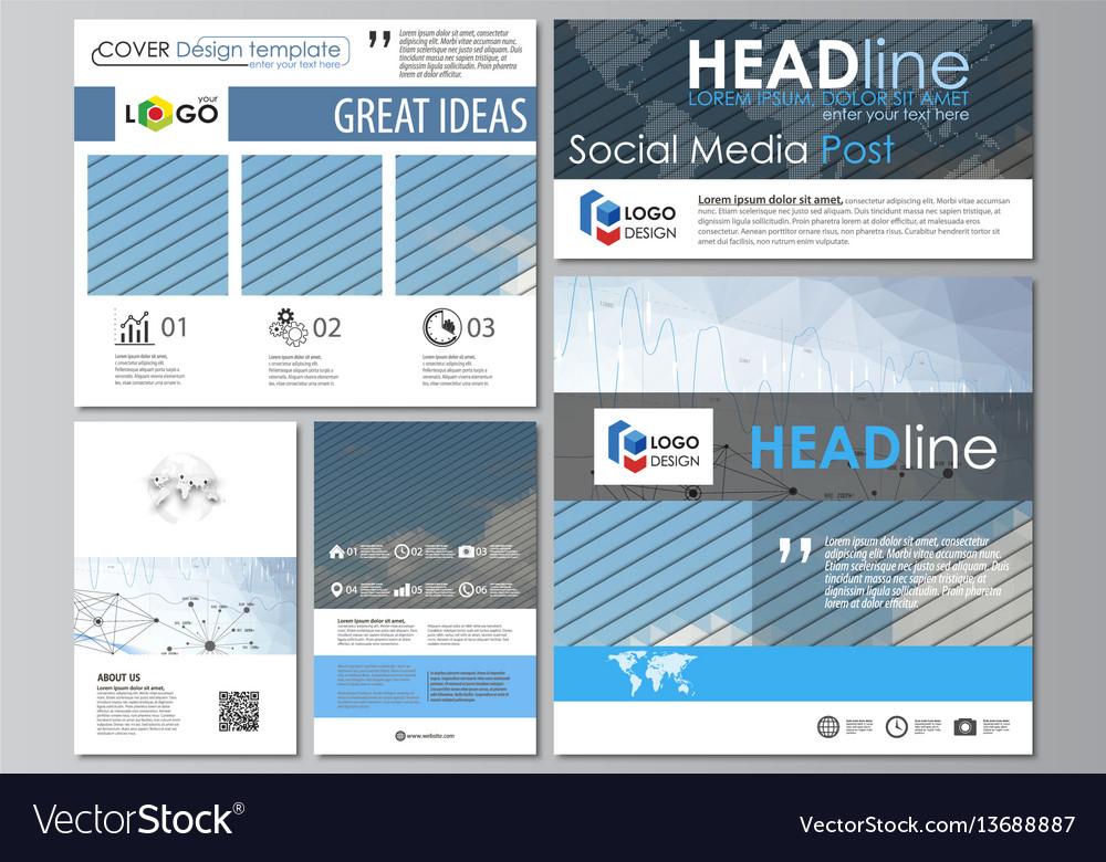 Social media posts set business templates