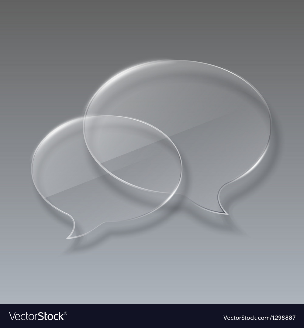 Two Glass bubbles speech on gray background vector image