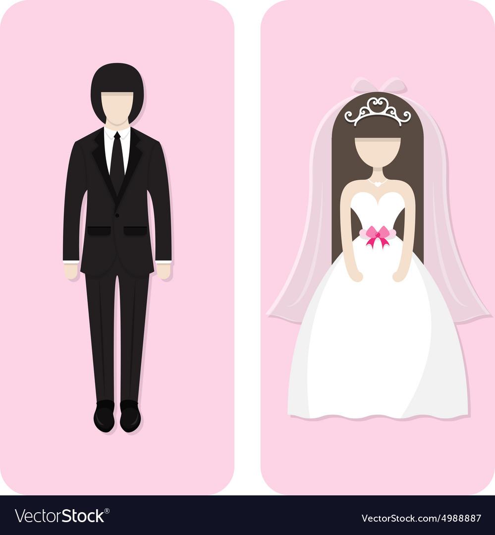 Wedding couple character