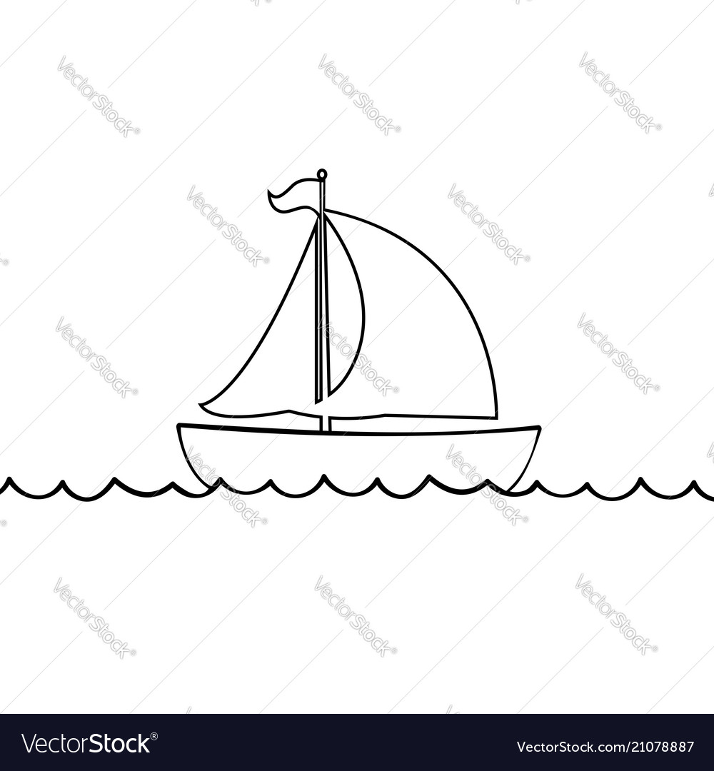 Yacht boat icon isolated on white background