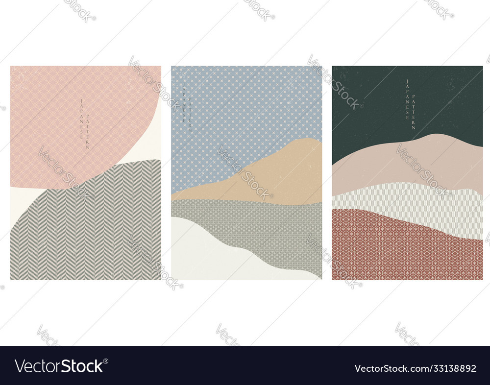Abstract arts background with japanese pattern